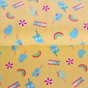 "Jersey ""Summer Sweets"" in yellow-vanilla/ bunt"