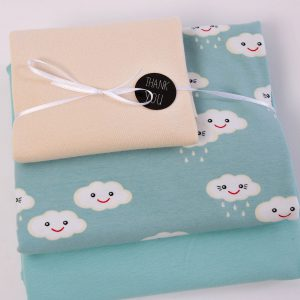 "Stoff-Paket ""HAPPY-CLOUD hellblau/ecru"""