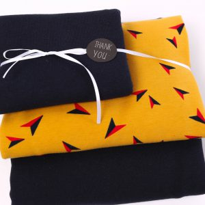 "Stoff-Paket ""Kites  senf/marine"""