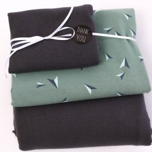 "Stoff-Paket ""Kites  soft-mint/anthra"""