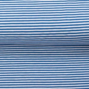 "Jersey ""Ringel"" jeansblau/ weiß"