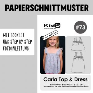 #73PP Papierschnitt Carla Top and Dress Girls + Booklet