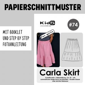 #74PP Papierschnitt Carla Skirt Girls + Booklet