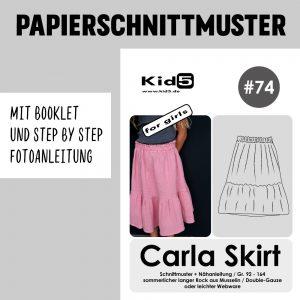 #74PP Papierschnitt Carla Skirt Girls + Booklet