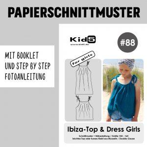 #88PP Papierschnitt Ibiza Top und Dress Girls + Booklet