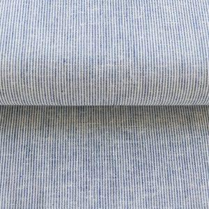 """Leinen-Baumwoll Mix  """"Streifen"""" in blau/weiß"""