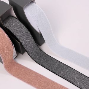 """Glitzergummi / Color-Elastic"" 5cm breit von Prym  (Farbe wählbar)"