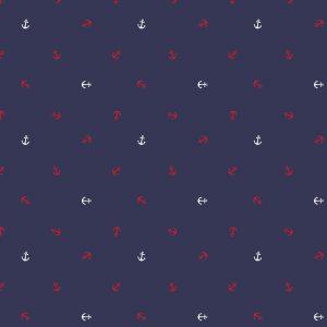 "Jersey ""mini Anker"" in marine-weiß-rot"