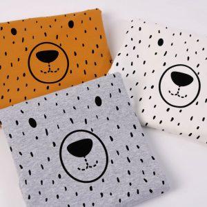 "Stoff Panel ""Hello-Bear""   (Farbe wählbar)"