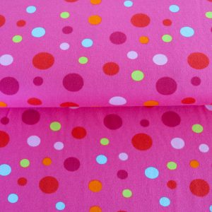 "Restmenge! Jersey ""colored Dots""  in pink/bunt"