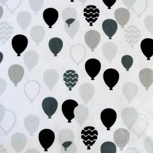 """Jersey """"Balloon""""  in weiß/grau-schwarz"""