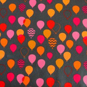 "Jersey ""Balloon""  in anthra/ pink-orange"