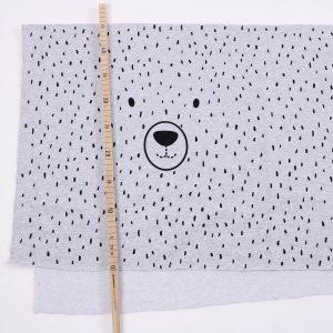 """B-Qualität/ Rest  """"Hello-Bear"""" 175x45cm  in grau/schwarz"""