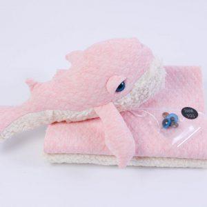 """Stoff-Paket """"Gary Wal-O""""  Steppsweat in rosa"""