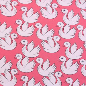 "Modal-Sweat ""PATTY the Swan ""  coralle/ecru"