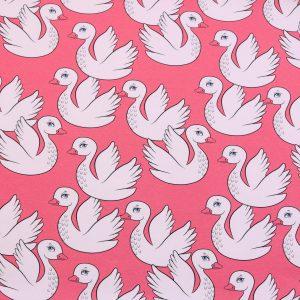 "Modal-Sweat ""PATTY the Swan ""  coralle/ecru"