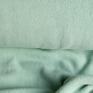 "Baumwoll-Fleece ""Sherpa"" in soft-mint"