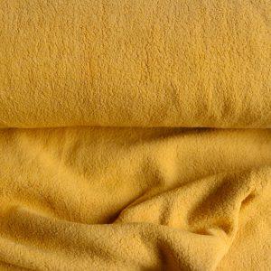 """Baumwoll-Fleece """"Sherpa"""" in senf"""