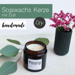 """DIY  """"Sojawachskerzen mit Duft""""  selbst herstellen +Video"""