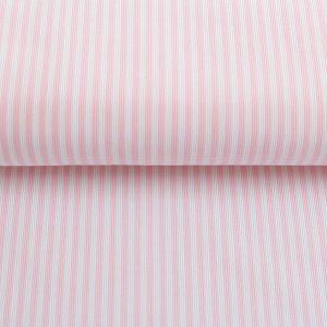 """Baumwollstoff Blusenstoff  """"Webstreifen"""" rosa/weiß"""