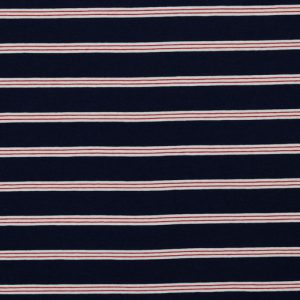 "Jersey ""Stripes""  in marine"