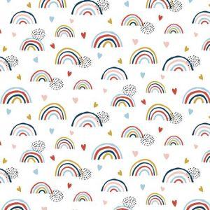 """Jersey """"Rainbow"""" weiß/ bunt"""
