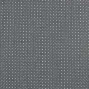 """Baumwollstoff  """"Petit dots"""" in grau mit weißen Pünktchen"""