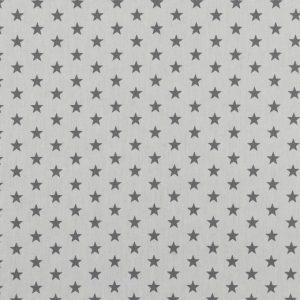 """Baumwollstoff """"Sterne"""" weiß/ grau"""