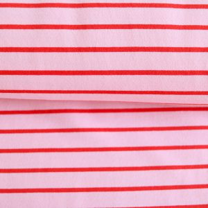 "Soft-Sweat ""Marine Stripe Maxi"" in rosa/ rot"