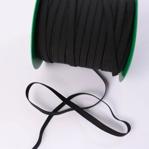 """Super-Elastic """"Gummiband/ Gummilitze"""" 7mm breit in schwarz"""