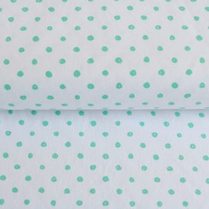 "Angebot! Jersey ""painted Dots""  in weiß/mint"