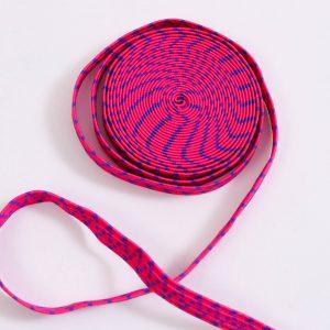 3m. Gummiband / Gummilitze  0,8mm breit pink-lila