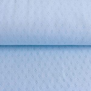 feiner Pointoille Jersey mit Lochmuster in baby-blue
