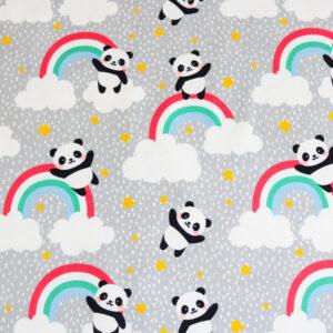 "Jersey ""Rainbow Panda"" in grau/bunt"