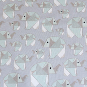 "Jersey ""Origami Elephant"" in grau/soft-mint"
