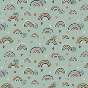 "Jersey ""Rainbow"" mint/ bunt"