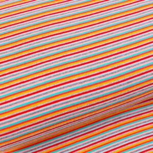 "Feinstrick Bündchen ""fresh stripes"" bunt"