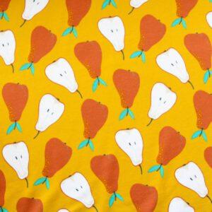 """Jersey """"Sweet Pears"""" in senf"""