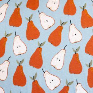 "Jersey ""Sweet Pears"" in taubenblau"