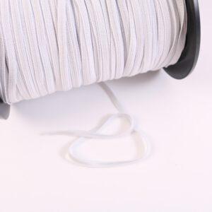 """Baby-Elastic super-soft """"Gummiband/ Gummilitze"""" 6mm breit in weiß"""