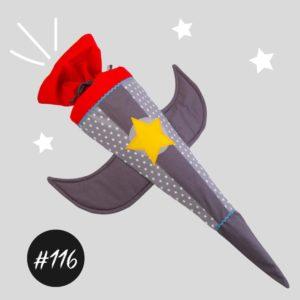 """#116  """"THE ROCKET"""" Raketen-Schultüte und Kissen"""
