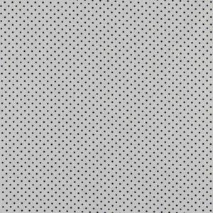 """Baumwollstoff  """"Petit dots"""" in  weiß mit schwarzen Pünktchen"""