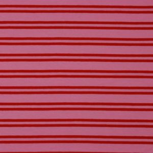 "Angebot! Jersey ""Retro-Stripes""  in pink/ rot"