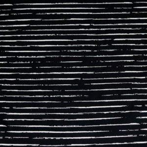 """Jersey """"white Lines"""" in schwarz/ weiß"""