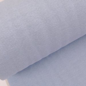 """Feinstrick Bündchen """"mini Ringel""""  hellblau/weiß"""