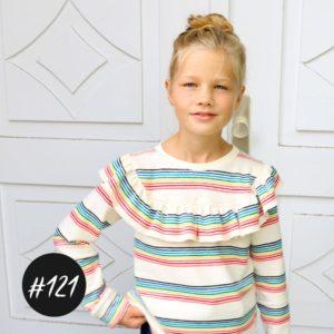 #121 Ruffle-Shirt-Girls  eBook + Video