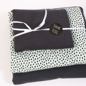 "Stoff-Paket ""Little Drops""  in anthra/mint"