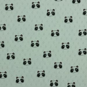 "feiner Pointoille Jersey mit Lochmuster  ""Panda"" in soft-mint"