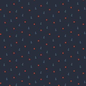 "Jersey ""mini Anker und Stern"" in marine/blau/rot"