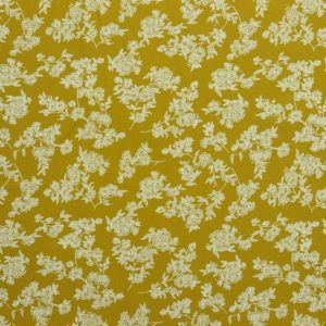 "Baumwoll- Blusenstoff ""washed Cotton flowers""  senf"